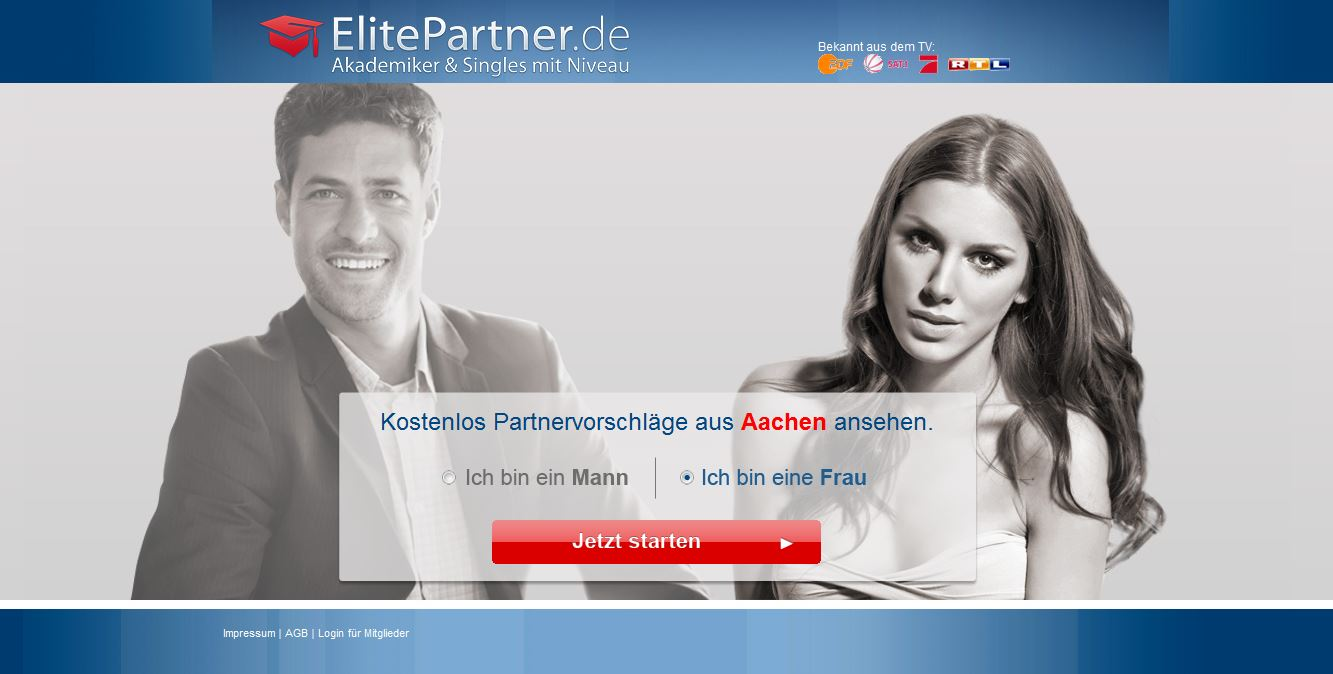 ElitePartner-Webseite